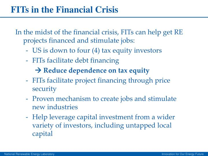 FITs in the Financial Crisis