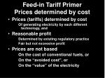 feed in tariff primer prices determined by cost