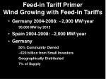 feed in tariff primer wind growing with feed in tariffs