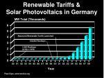 renewable tariffs solar photovoltaics in germany