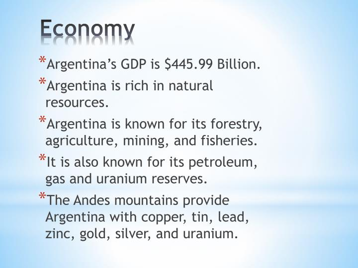 Argentina's GDP is $445.99