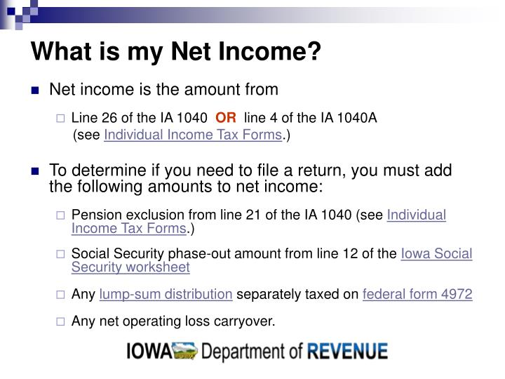 Ppt Iowa Income Tax Returns Powerpoint Presentation Id3041843