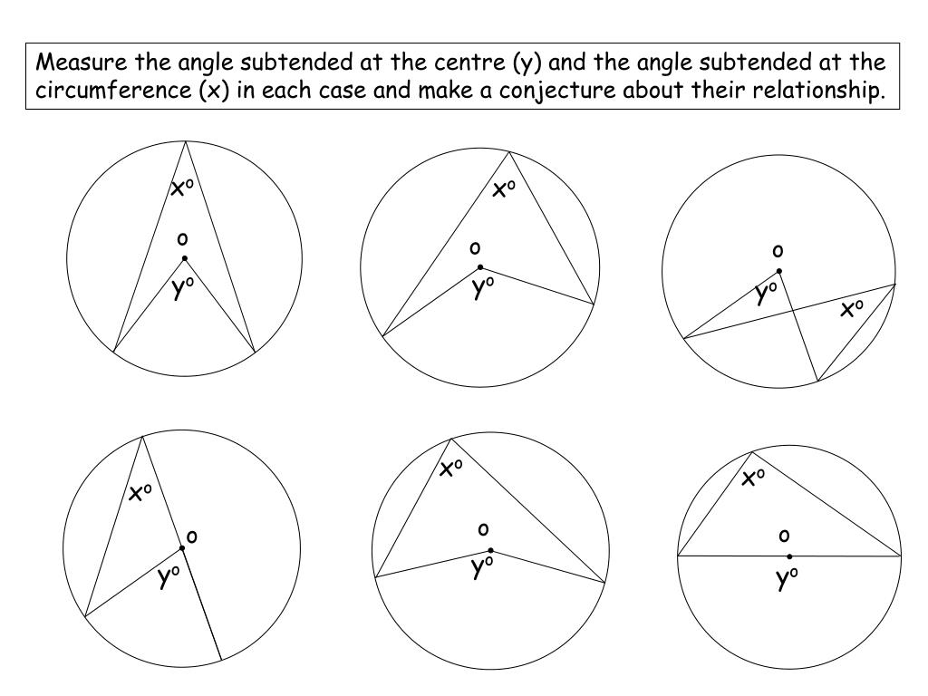 PPT - Circle Theorems PowerPoint Presentation, free download - ID With Angles In A Circle Worksheet