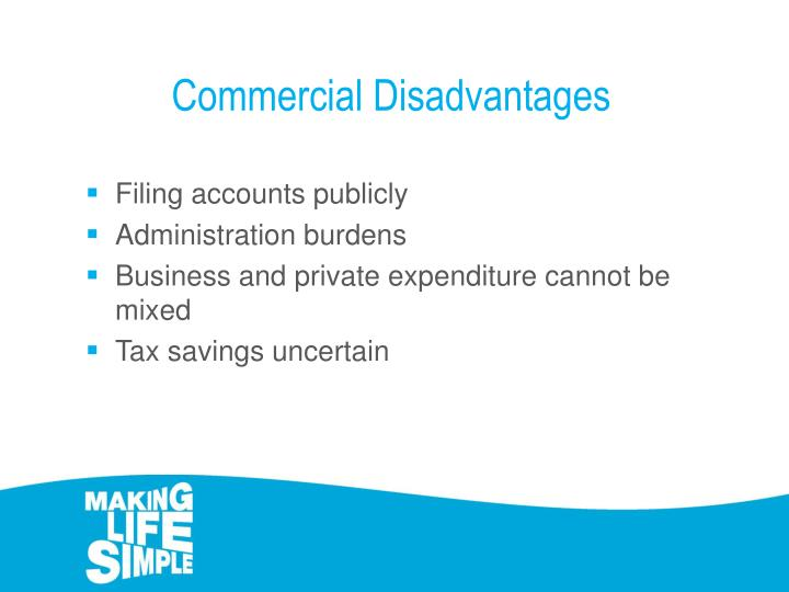 Commercial Disadvantages