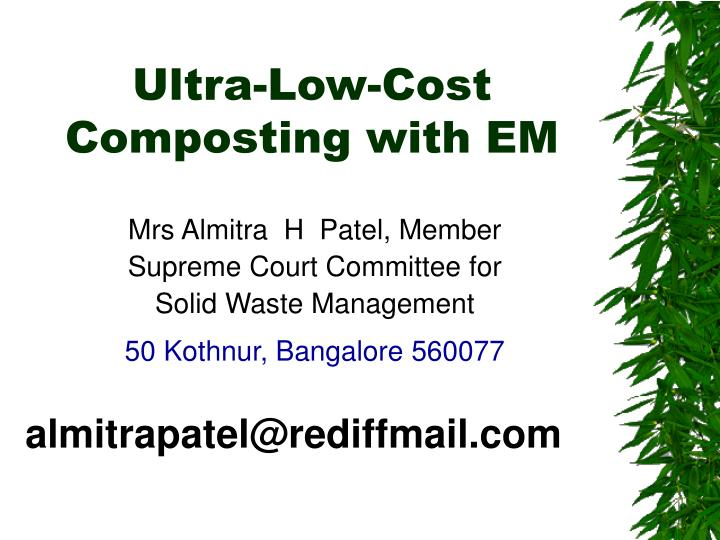 ultra low cost composting with em n.