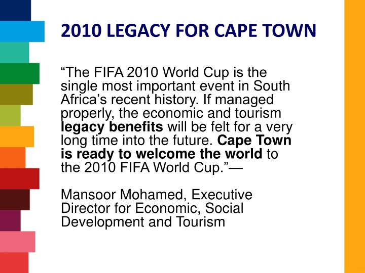 2010 LEGACY FOR CAPE TOWN
