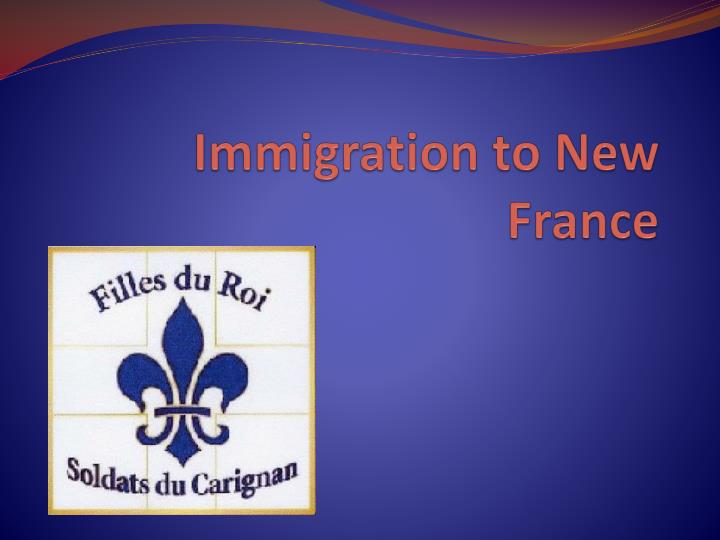 immigration to new france n.