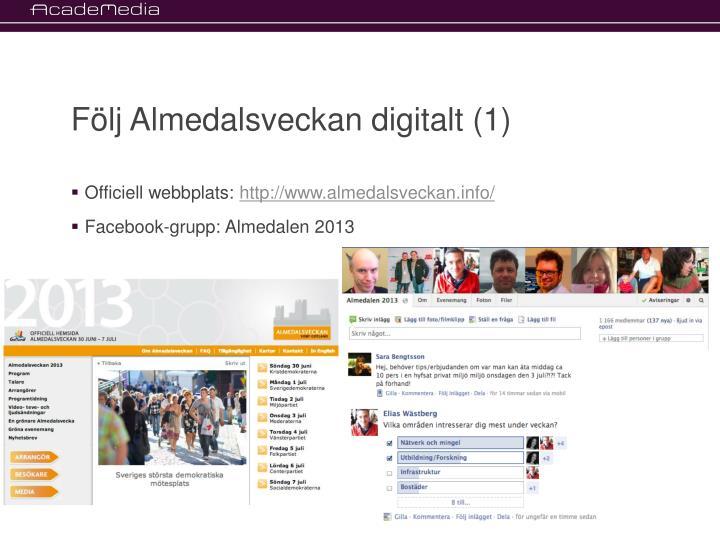Följ Almedalsveckan digitalt (1)