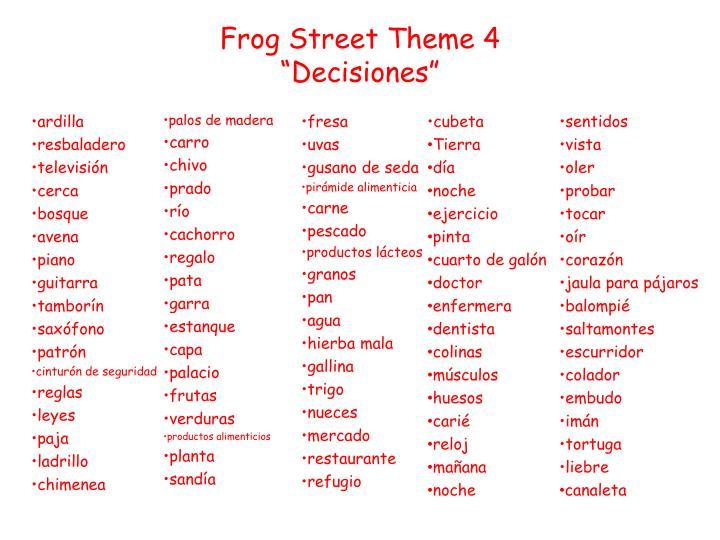 Frog Street