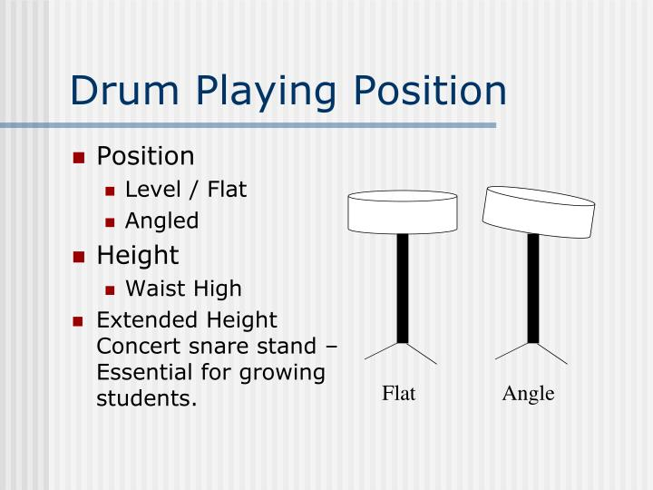 Drum Playing Position