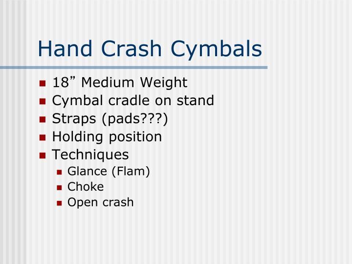 Hand Crash Cymbals