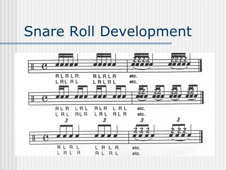 Snare Roll Development