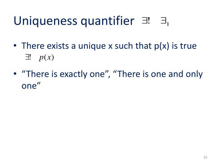Uniqueness quantifier