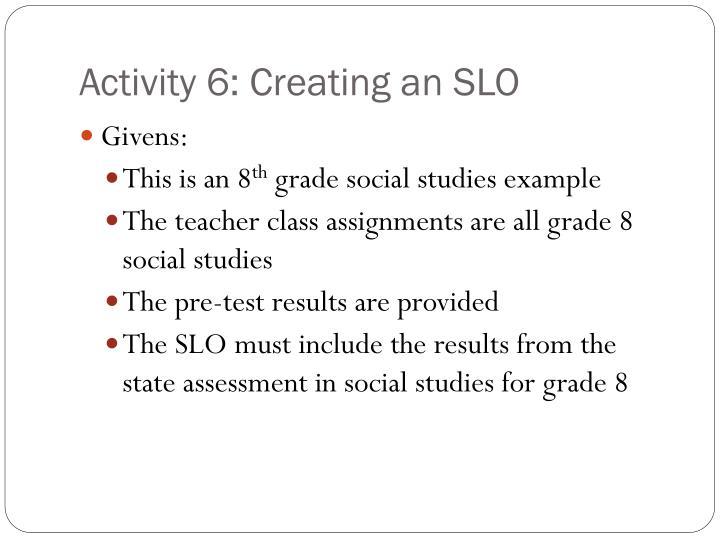 Activity 6: Creating an SLO