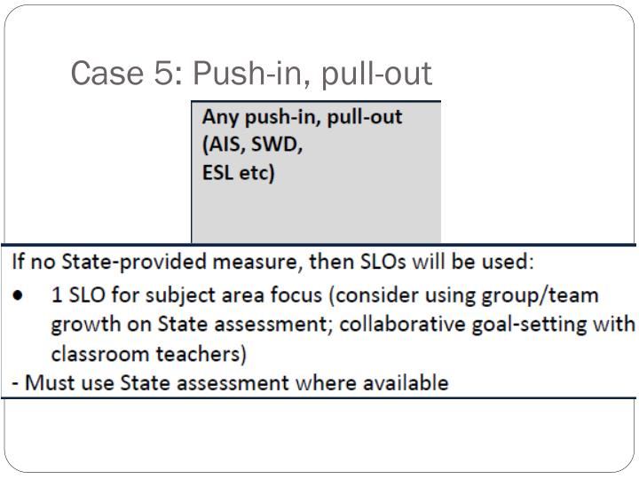 Case 5: Push-in, pull-out