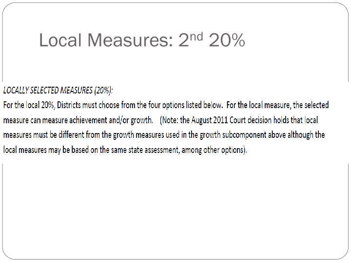 Local Measures: 2