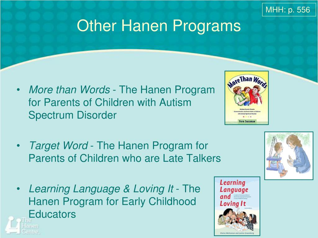 ppt other hanen programs powerpoint presentation id 3042242