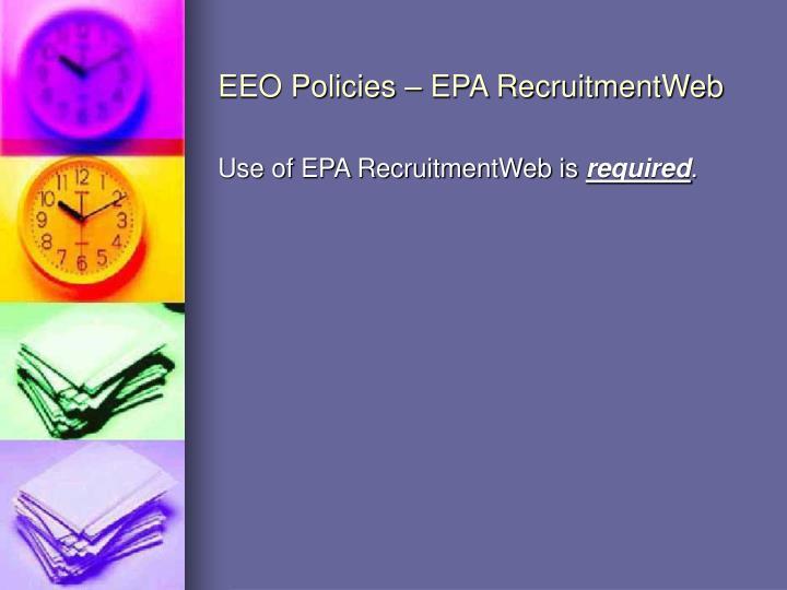 EEO Policies – EPA RecruitmentWeb