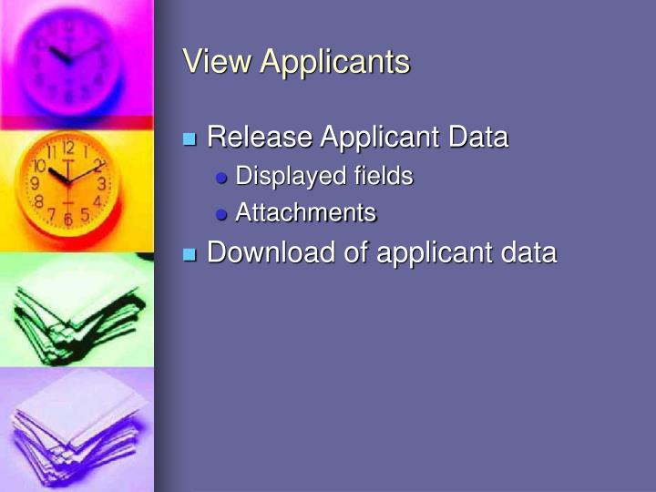 View Applicants