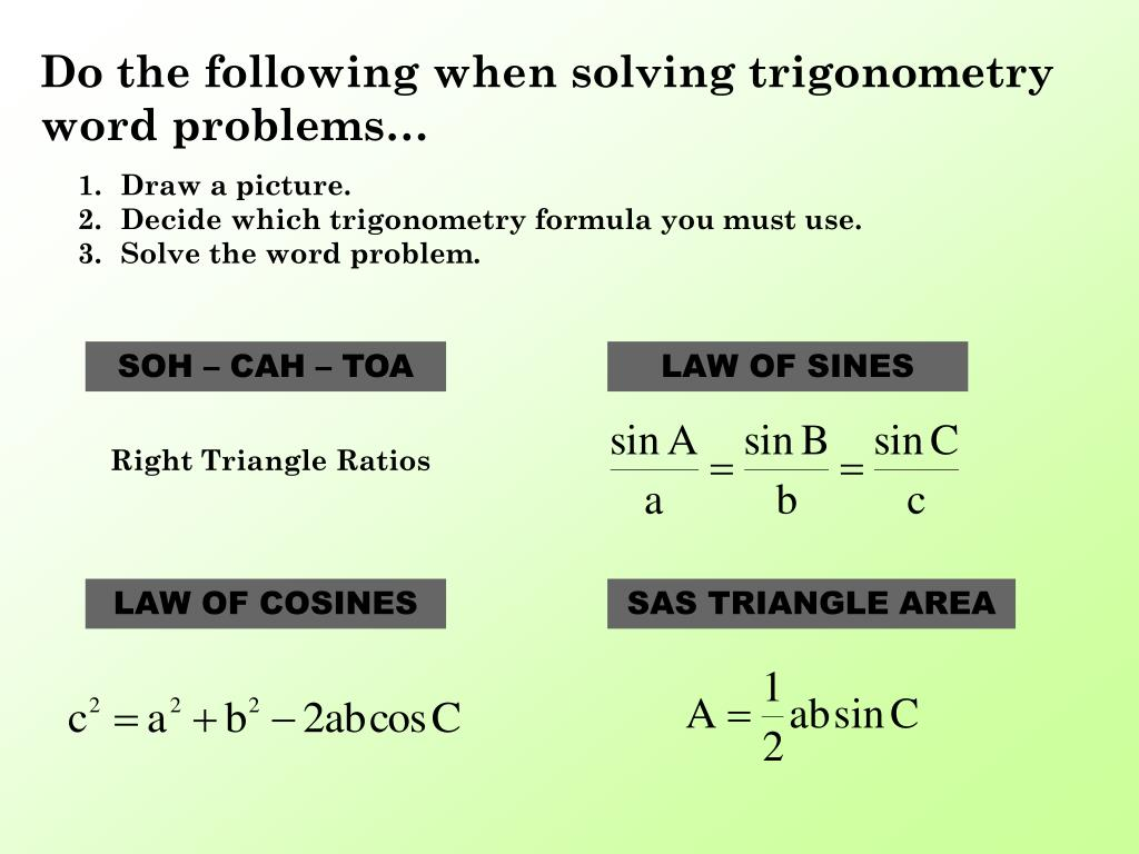 PPT - Problem Solving with Trigonometry PowerPoint