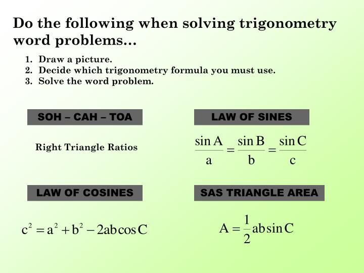 solving right triangles word problems