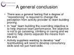 a general conclusion