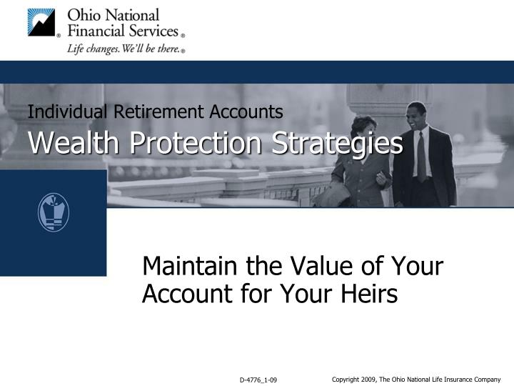 Individual retirement accounts wealth protection strategies