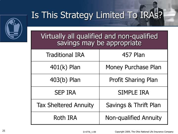 Is This Strategy Limited To IRAs?