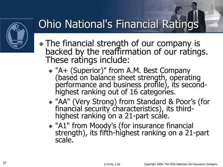 Ohio National's Financial Ratings