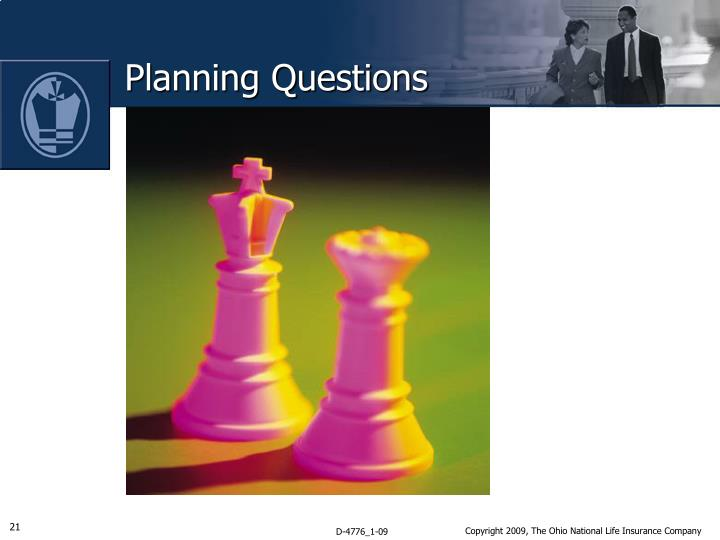 Planning Questions