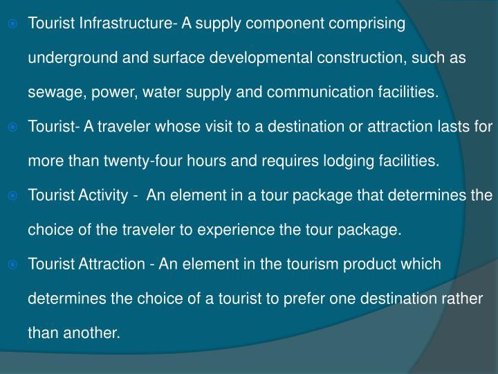 tourist infrastructure