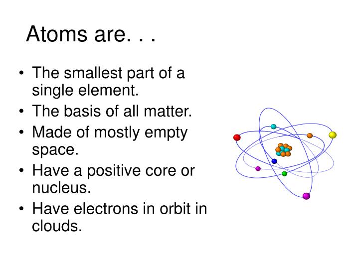 Atoms are. . .