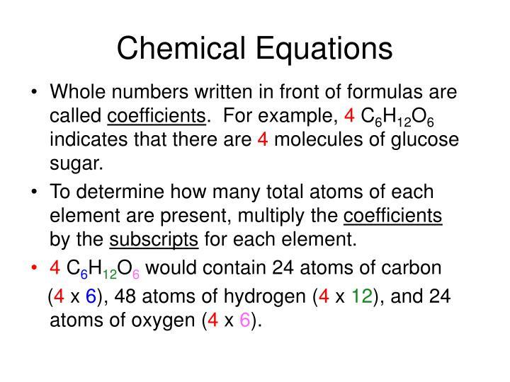Chemical Equations