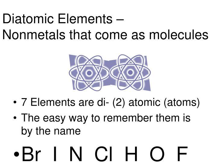 Diatomic Elements –