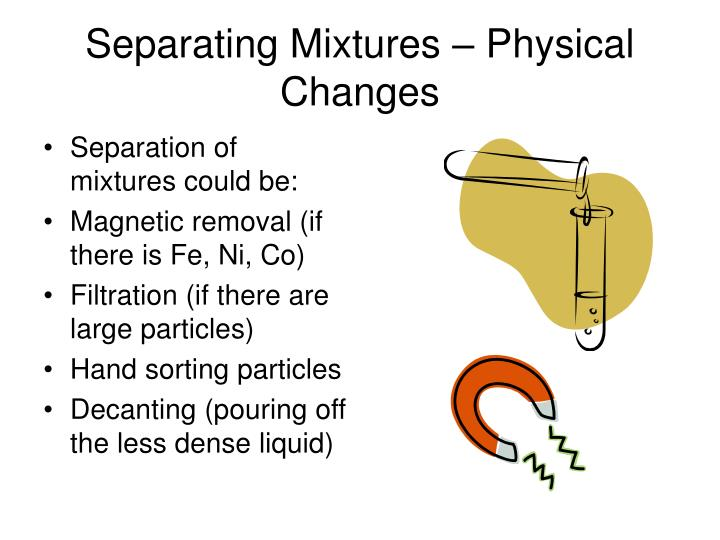 Separating Mixtures – Physical Changes