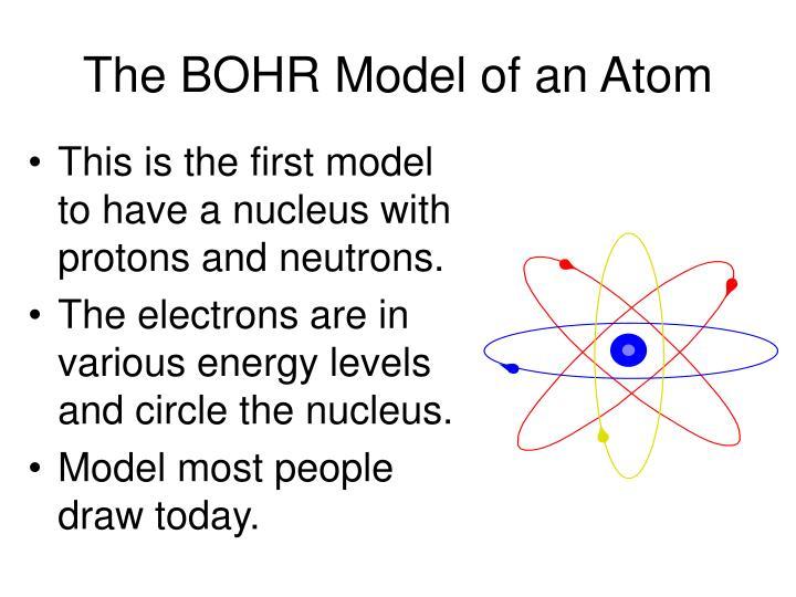 The BOHR Model of an Atom