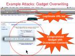 example attacks gadget overwriting