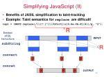 simplifying javascript ii