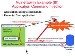 vulnerability example iii application command injection