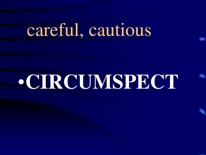 careful, cautious