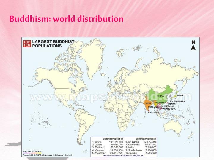 Buddhism world distribution