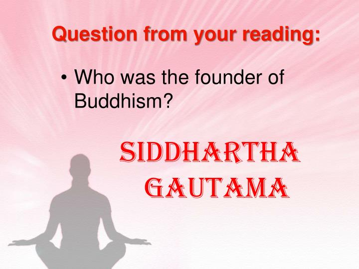 Question from your reading: