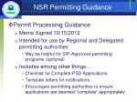 nsr permitting guidance