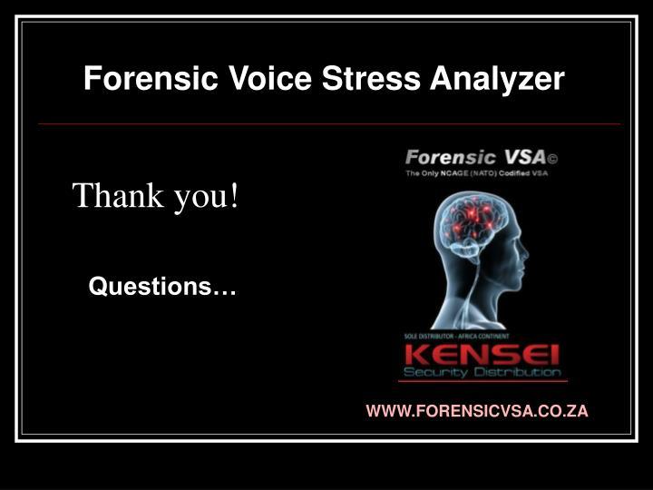 Forensic Voice Stress Analyzer