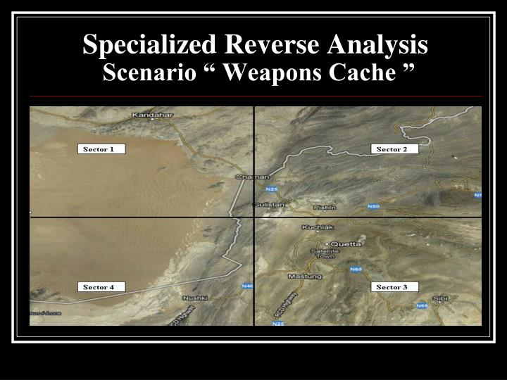 Specialized Reverse Analysis