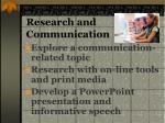research and communication