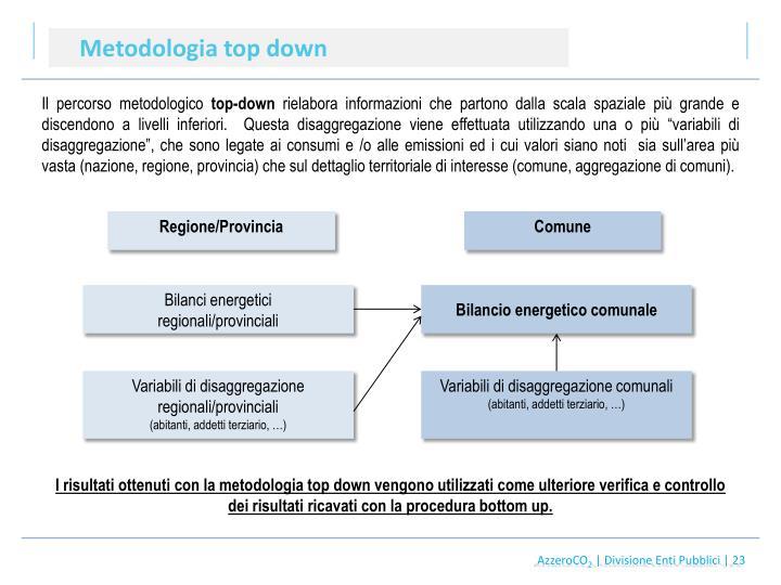 Metodologia top down