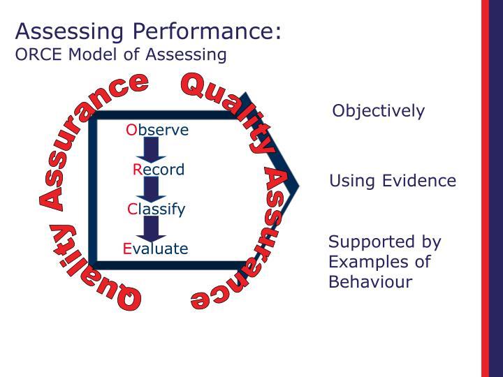 Assessing Performance: