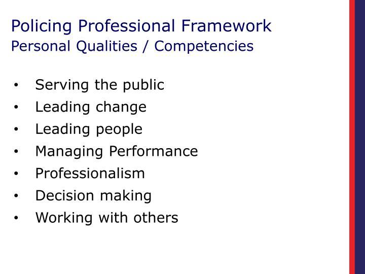 Policing Professional Framework