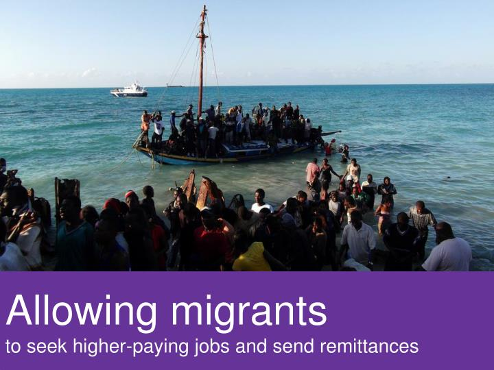 Allowing migrants